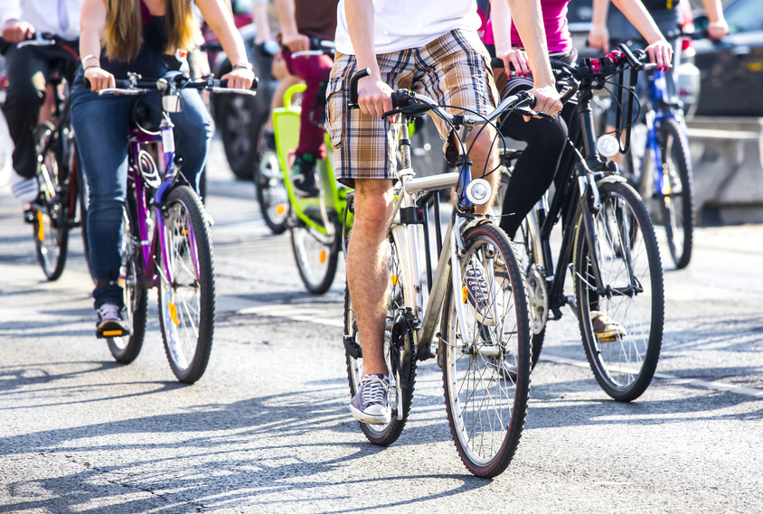 The people are having a bike marathon that may lead to a bike accident.